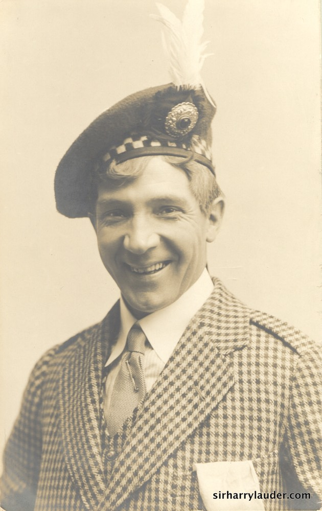Harry Lauder in Houndstooth Jacket Undated