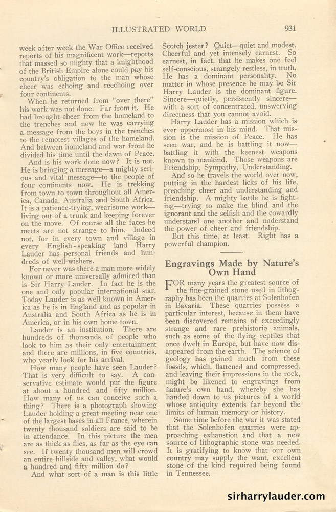 Illustrated World Might Minstrel Of Peace Article By Wm Flemming French Feb 1923 -3