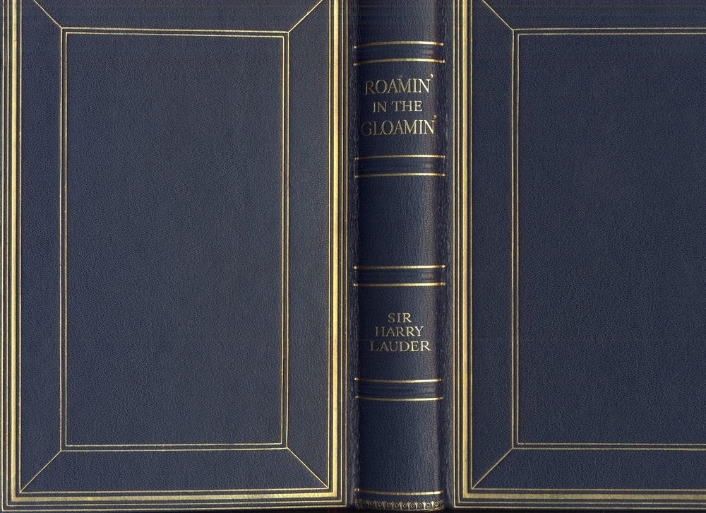 Leather Bound Presentation Copy Of Autobiography Roamin In The Gloamin Inscribed To Neice Greta Lauder Oct 28 1928 Cover