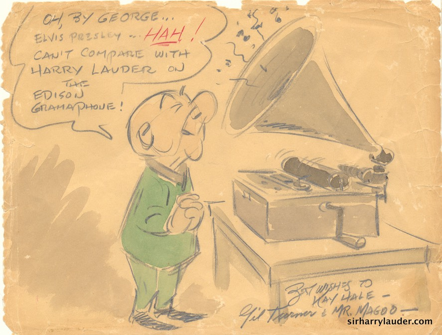 Mr Magoo Lauder Drawing By Gil Turner To Kay Hale Undated