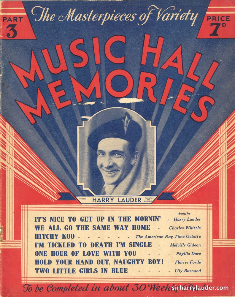 Music Sheet Booklet Music Hall Memories The Amalgamated Press Ltd 1935