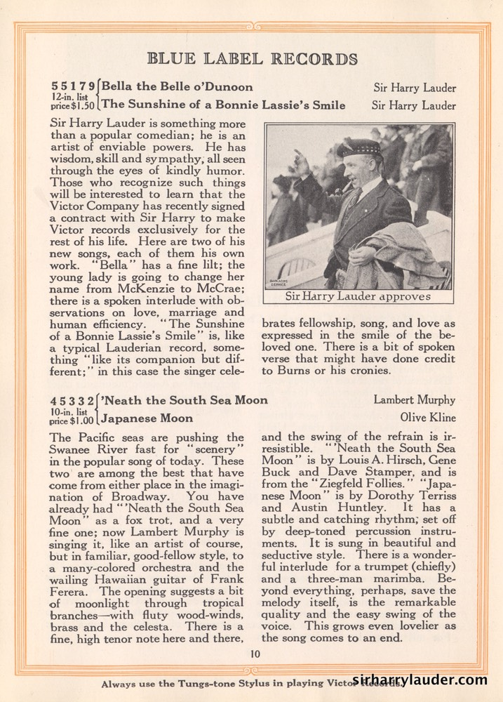 New Victor Records Booklet Article & Photo Jan 1923