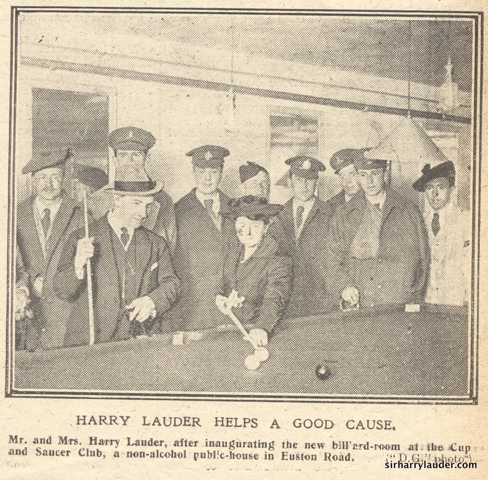 Newspaper Photo Sir Harry & Lady Lauder Billiard Room Undated