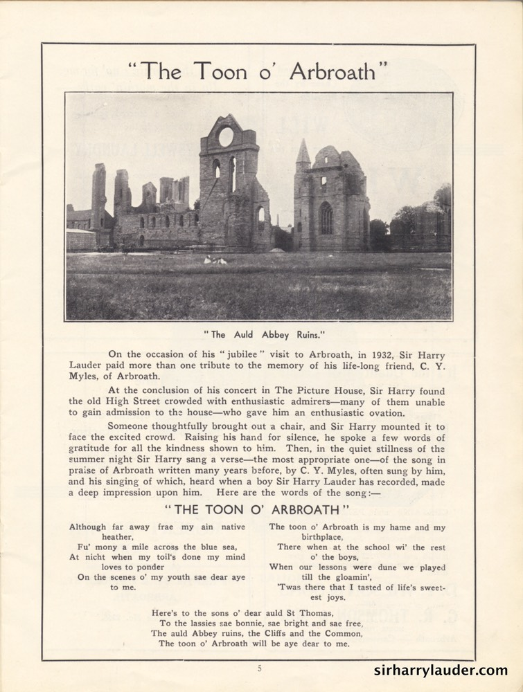 Palace Theatre Arbroath Grand Concert Programme Booklet Oct 20 1940 -02