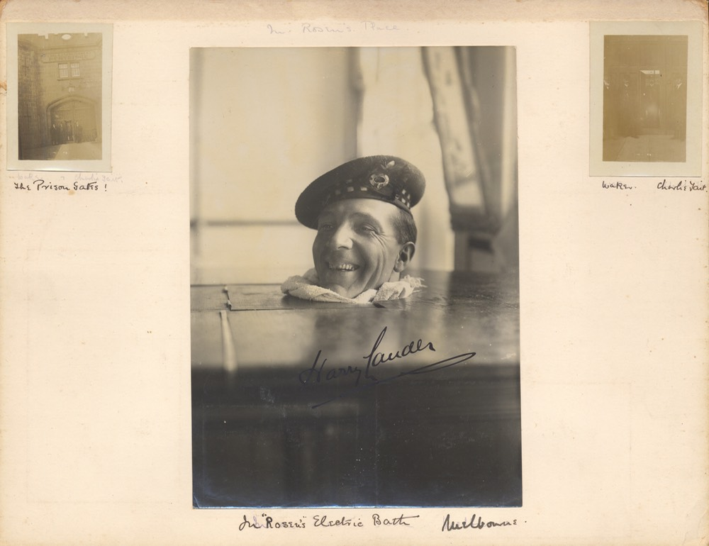 Photo Album Annotated By John Lauder With Photo Signed By Sir Harry Undated -7