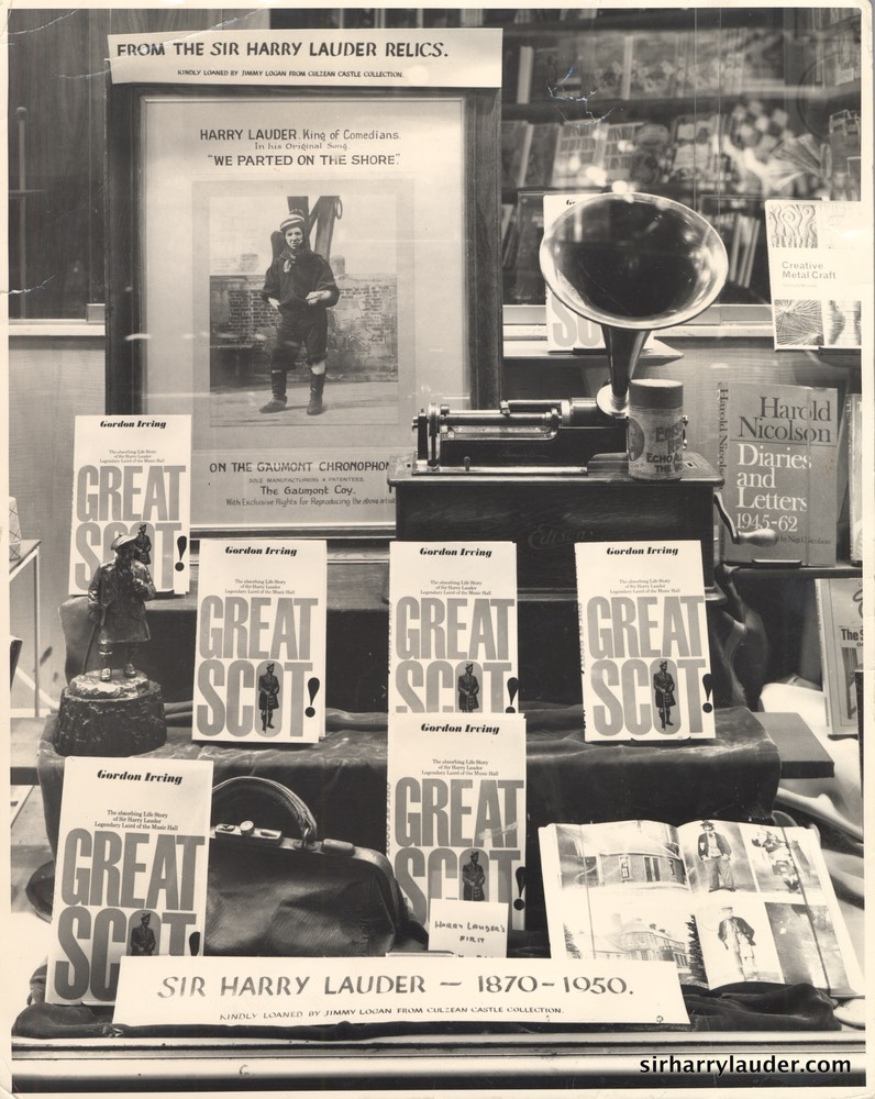 Photo From Gordon Irving Shop Window Featuring Book Great Scot 1968?