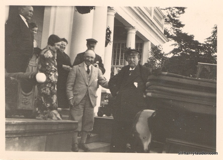 Photo Sir Harry & Sir Thomas Lipton Greta Lauder Mary Vallance R James Vallance Left   Undated