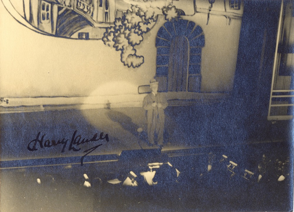 Photo Sir Harry On Stage Signed Aug 27 1935 -1