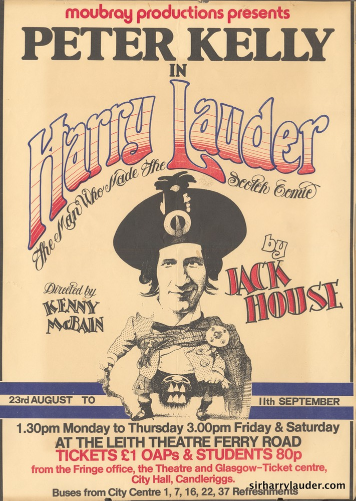 Poster Leith Theatre For Harry Lauder Man Who Made The Scotch Comic L