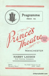 Princes Theatre Manchester Programme Booklet Oct 29 1934 -1