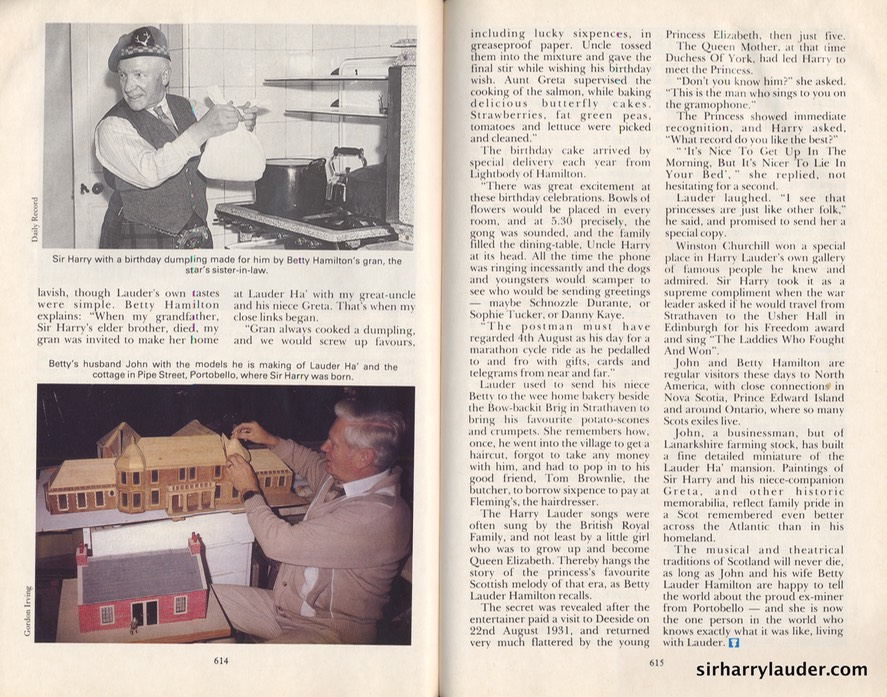 Scots Magazine Article Living With Lauder By Gordon Irving Signed By G Irving & Betty Lauder Hamilton Dated Dec 1994 -3