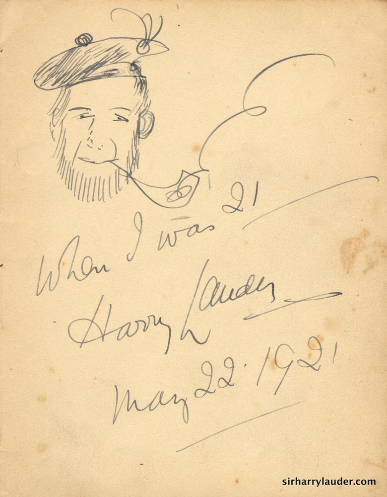 Self Drawn Caricature Ink When I was 21 May 22 1921