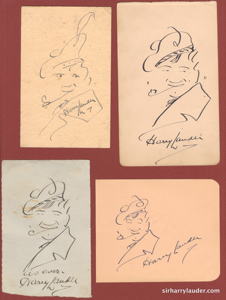 Self Drawn Caricatures Four Ink Undated -1