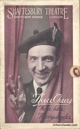 Shaftesbury Theatre London Three Cheers Programme Booklet No 1 1916-17 -1