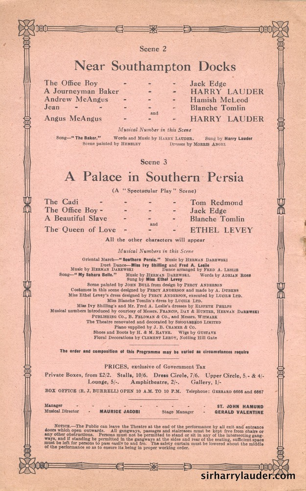 Shaftesbury Theatre London Three Cheers Programme Booklet No 1 1916-17 -6