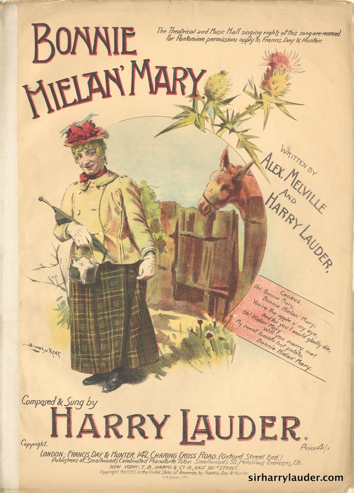 Sheet Music Bonnie Hielan Mary Francis Day & Hunter London 1901