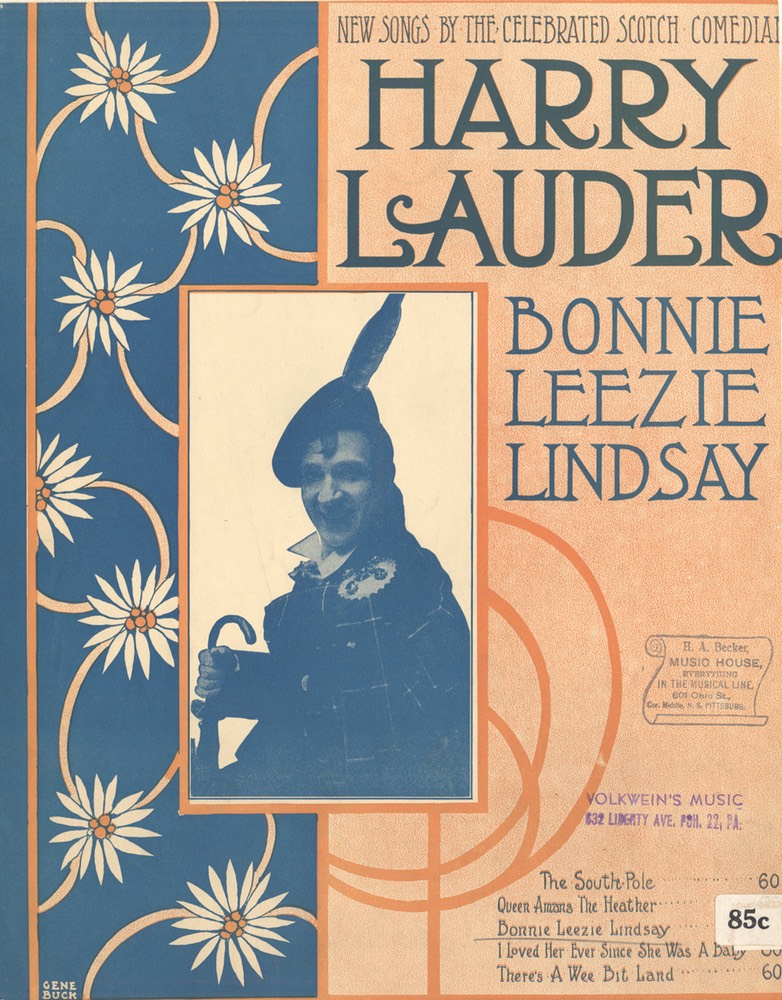 Sheet Music Bonnie Leezie Lindsay TB Harms & Francis Day & Hunter NY 1919