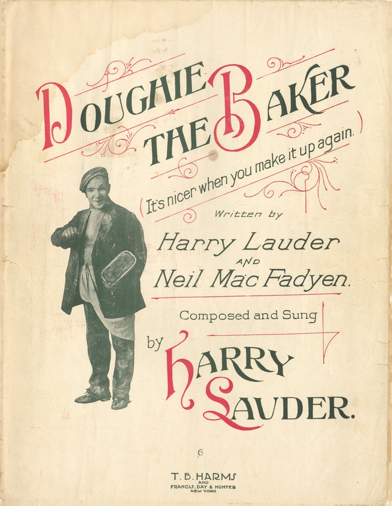 Sheet Music Doughie The Baker TB Harms & Francis Day & Hunter NY 1915