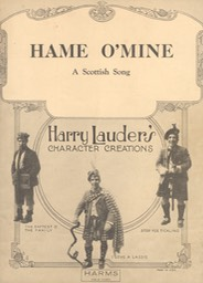 Sheet Music Hame O Mine Harms NY 1920