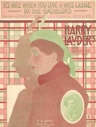 Sheet Music Its Nice When You Love A Wee Lassie TB Harms & Francis Day & Hunter NY 1912