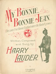 Sheet Music She Is My Bonnie Bonnie Jean TB Harms & Francis Day & Hunter NY 1915