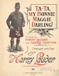 Sheet Music Ta Ta My Bonnie Maggie Darling TB Harms & Francis Day & Hunter NY 1913