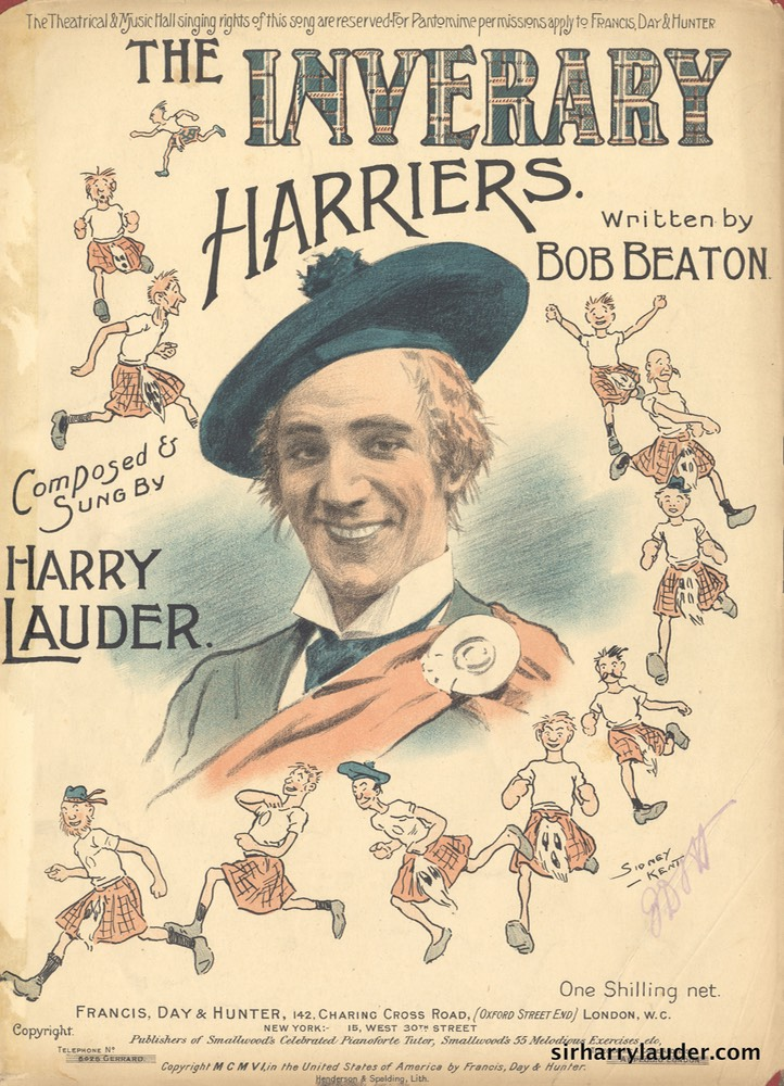 Sheet Music The Inverary Harriers Francis Day & Hunter London 1906