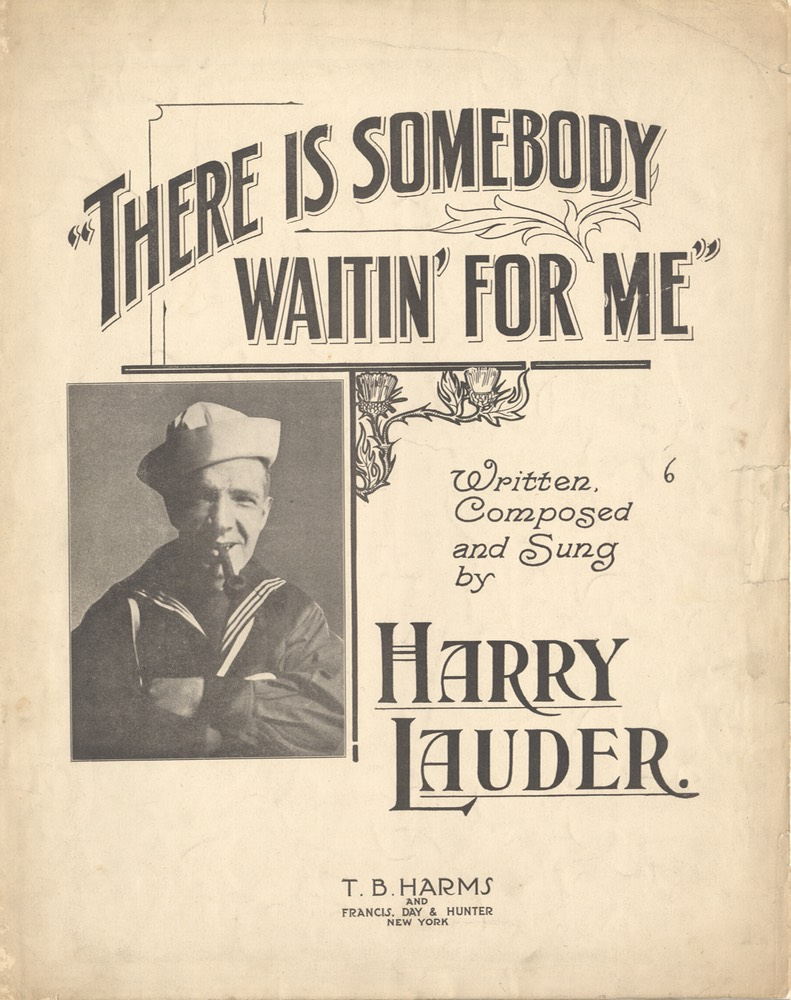 Sheet Music There Is Sombody Waiting For Me TB Harms & Francis Day & Hunter NY 1917