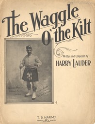 Sheet Music Waggle Of The Kilt TB Harms & Francis Day & Hunter NY 1917