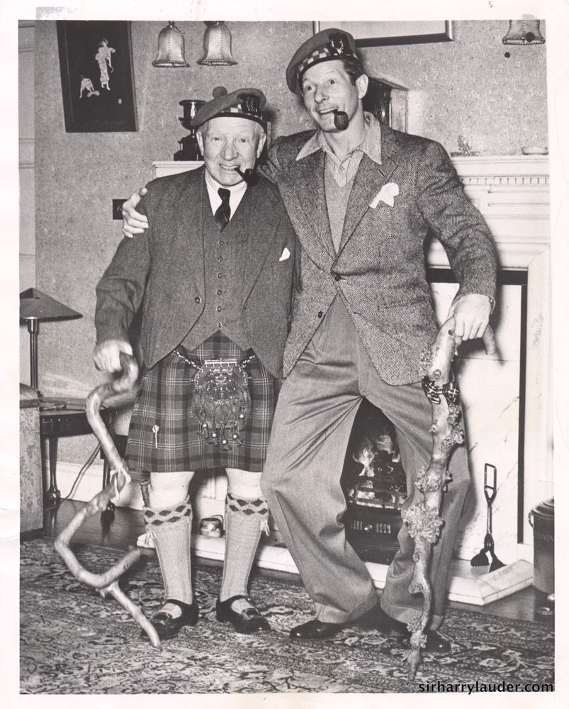 Sir Harry & Danny Kaye At Lauder Ha' Dated Jun 1949