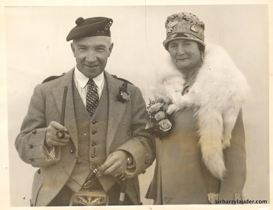 Sir Harry & Lady Lauder Acquitania -1 Oct 1926
