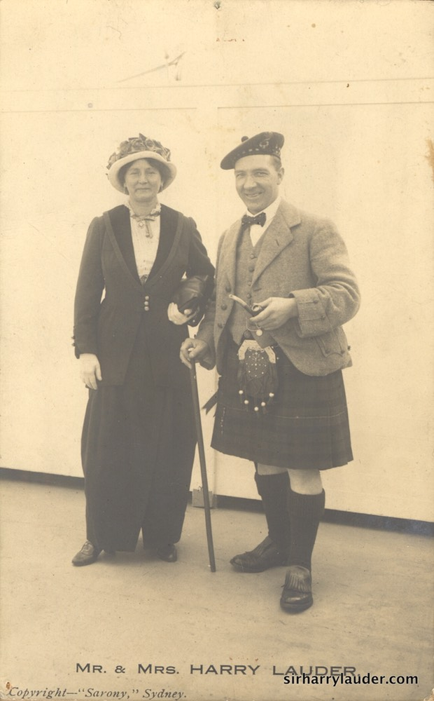 "Sir Harry & Lady Lauder ""Sarony"" Sydney PC Undated"