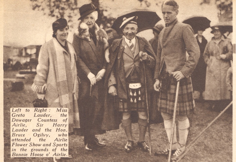 Sir Harry Greta Lauder Countess Airlie Bruce Ogilvy Magazine Photo Aug 24 1937