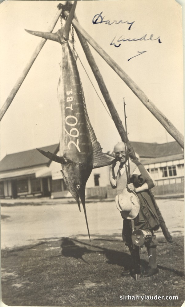 Sir Harry Signed With 260 LBS Swordfish Signed Undated