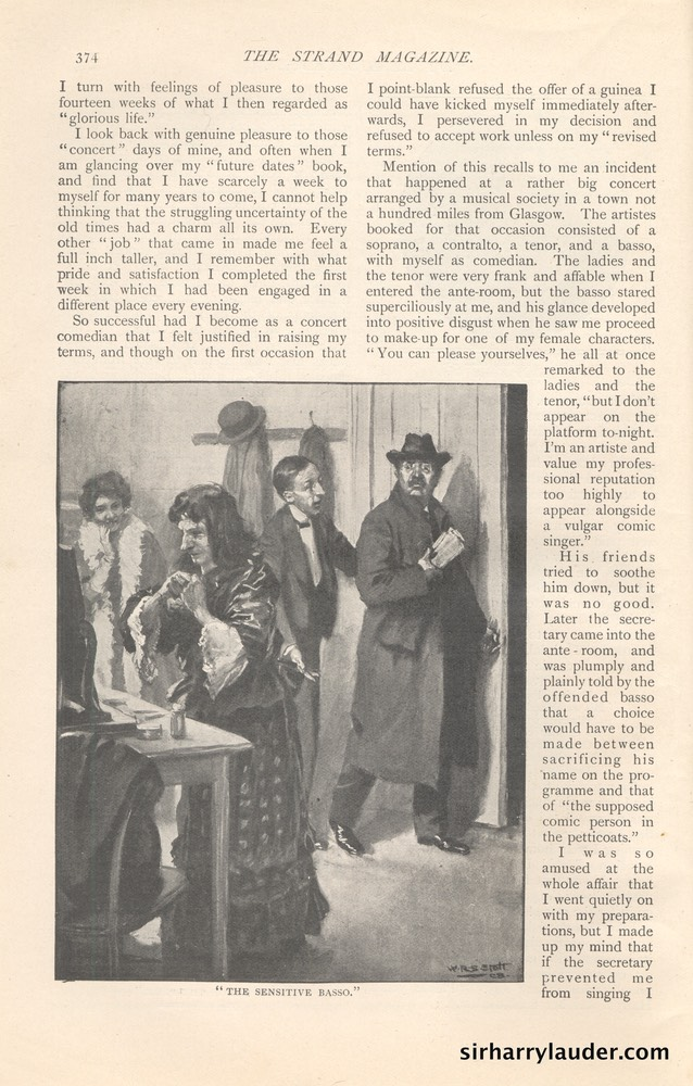 Strand Magazine My Reminiscenes By Harry Lauder April 1909 -5