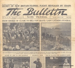 The Bulletin Newspaper Lady Lauders Funeral Aug 4 1927 -1