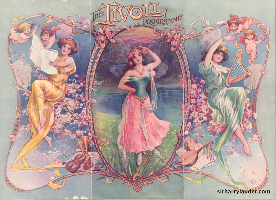 Tivoli London Programme Tri-Fold May 3 1909